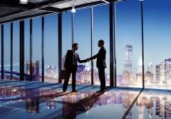 handshake welcome partnership deal commercial
