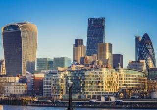 London city finance skyline