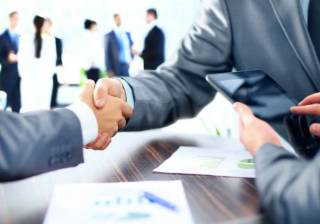 handshake business legal contract hire