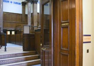court courtroom jail judge fined ban
