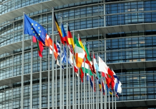 euro, eurozone, flag, ecb