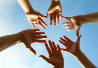 teamwork hands