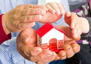 pension, retirement, house, hands