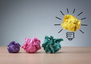 New idea business product bulb paper