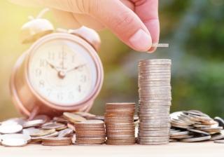Pension clock money retirement