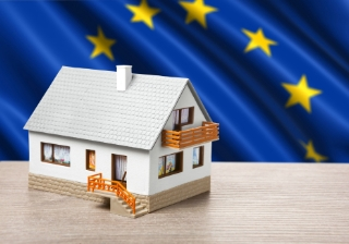 EU house Europe flag Brexit