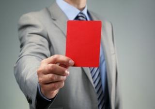fine ban warning red card