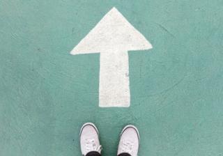 arrow direct forward up go