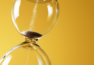 deadline time clock hourglass fast slow