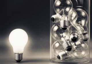 lightbulb different outside box idea new
