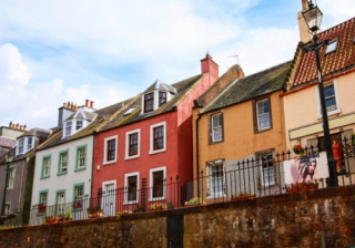 Scotland Edinburgh Scottish houses row