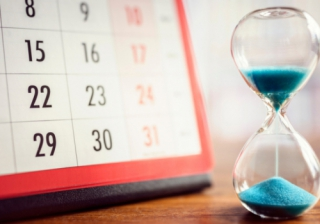 calendar time clock timer sand