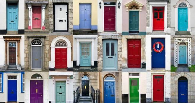 colour row houses