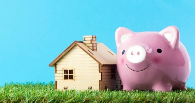 house buy save pig saving
