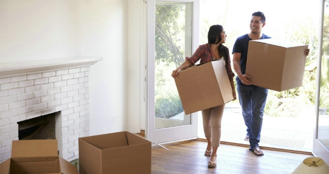 New house first-time buyer move