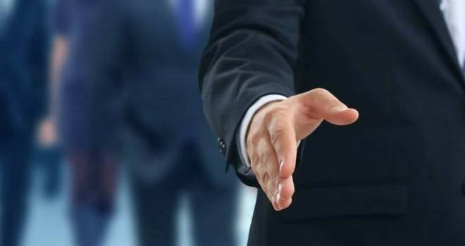 hire appoint handshake