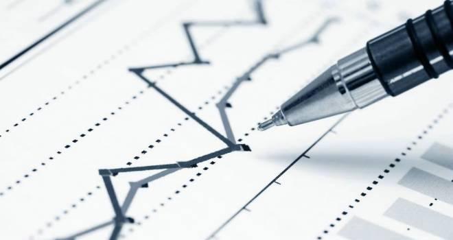 line graph growth decline chart