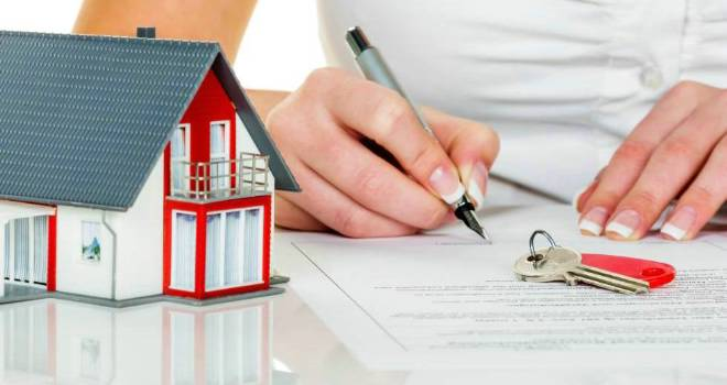 house home insurance mortgage document