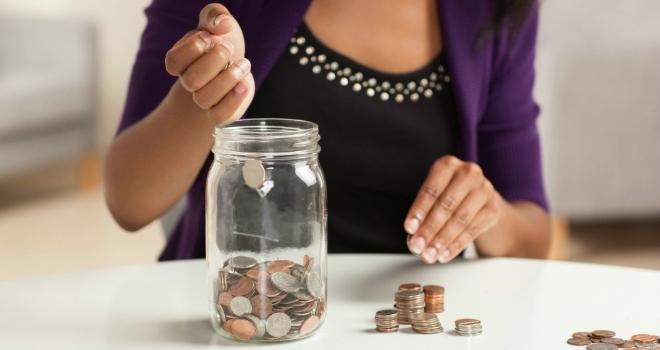 coins jar saving save