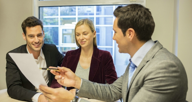 adviser with couple new