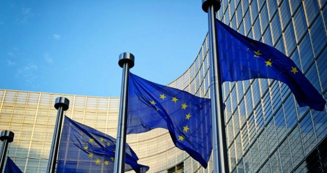EU flags Brexit Europe