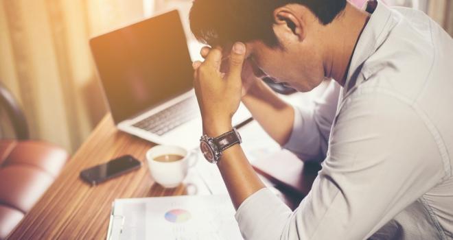 stress financial adviser worker business