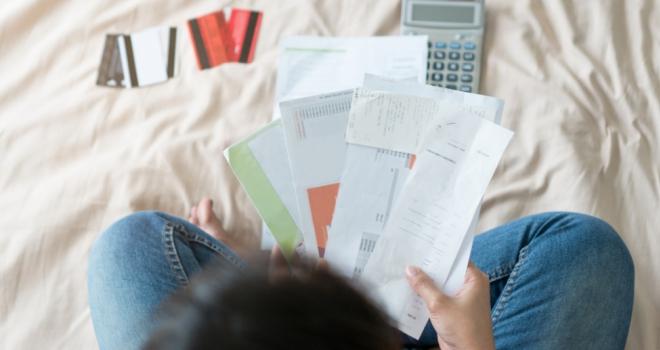 debt credit card finance money worries