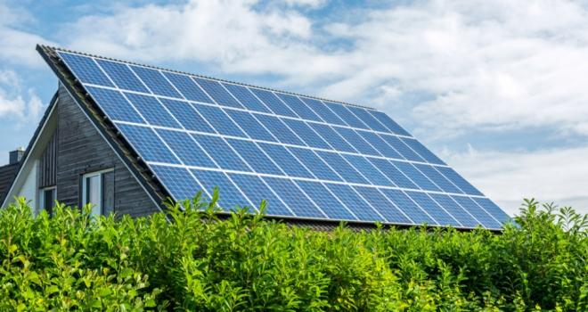 eco green housing solar house