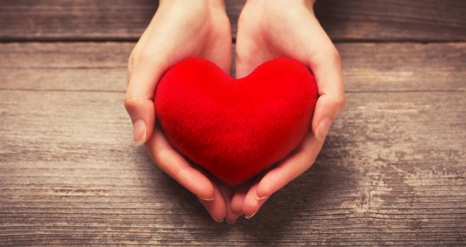 heart hand gift give