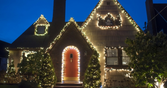 Christmas house winter