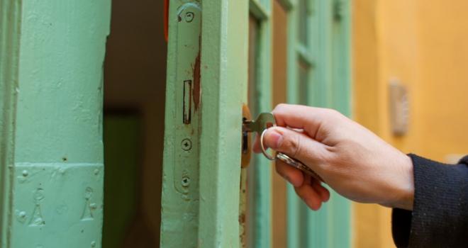 unlock door open